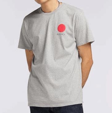Edwin Japanese Sun T-Shirt - grey marl