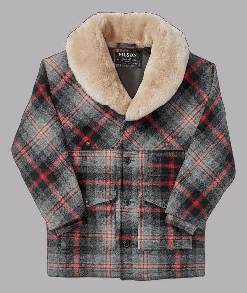 Filson - Lined Wool Packer Coat Red Gray