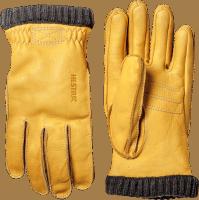 Hestra Primaloft Rib Deerskin - Yellow Gold