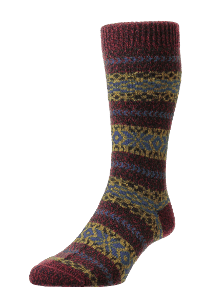 Scott Nichol Country Fairisle Stripe - chestnut