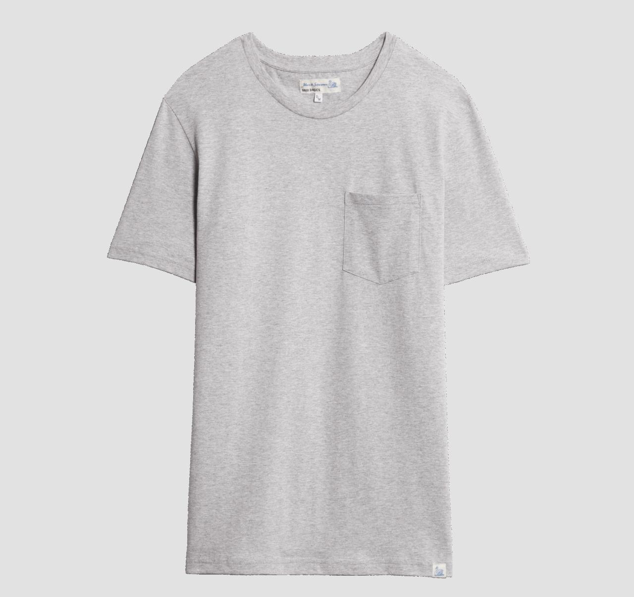 Merz b. Schwanen Basic Pocket T-Shirt - Grey Mel.