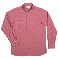 Pike Brothers 1940 USN Chambray Shirt Norfolk Red