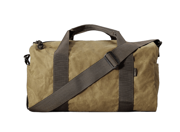 Filson Small Tin Cloth Field Duffle - Dark Tan