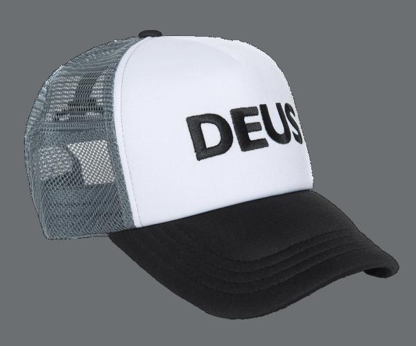 Deus Caps Trucker - black / white / gray