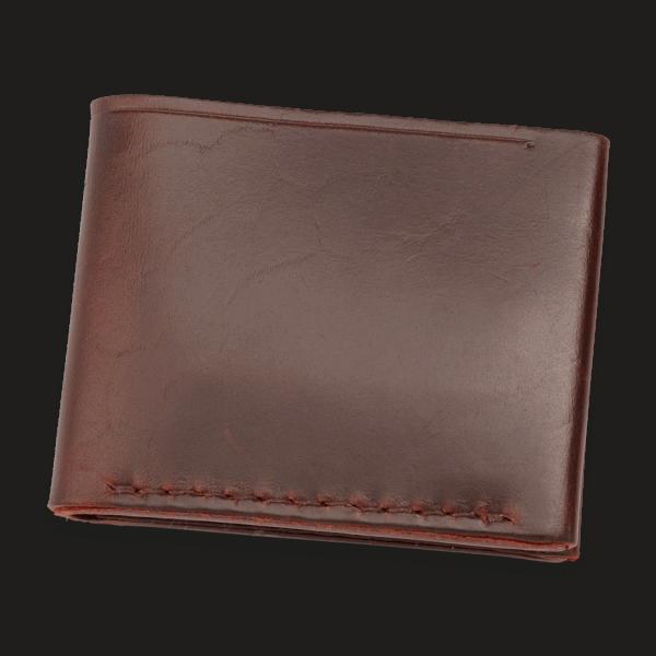 Coronado Leather HH8 BGY 8 Card Wallet Burgundy