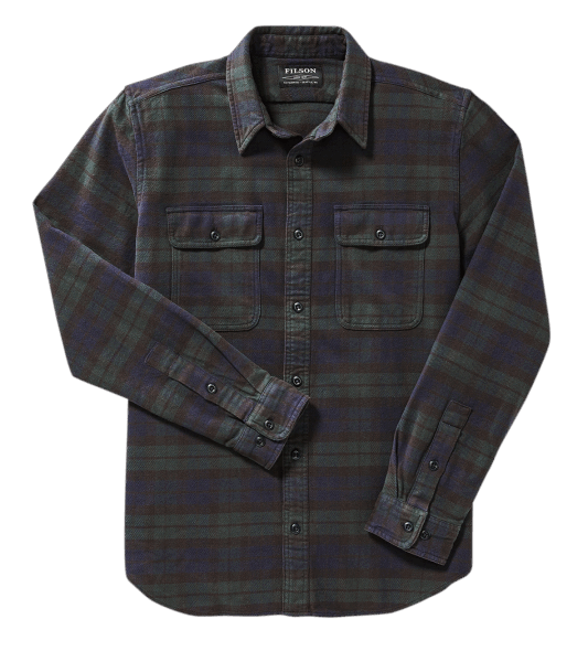 Filson Vintage Flannel Work Shirt - black/green/navy