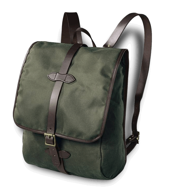 Filson Tin Cloth Backpack - Otter Green
