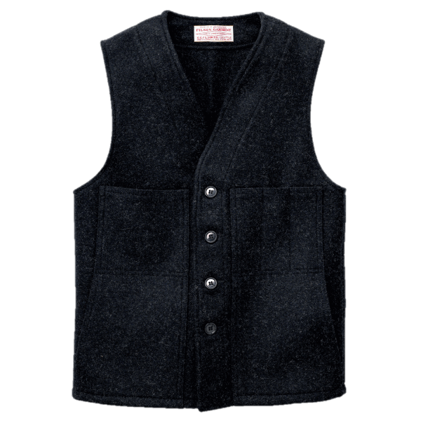 Filson Mackinaw Wool Weste - Charcoal