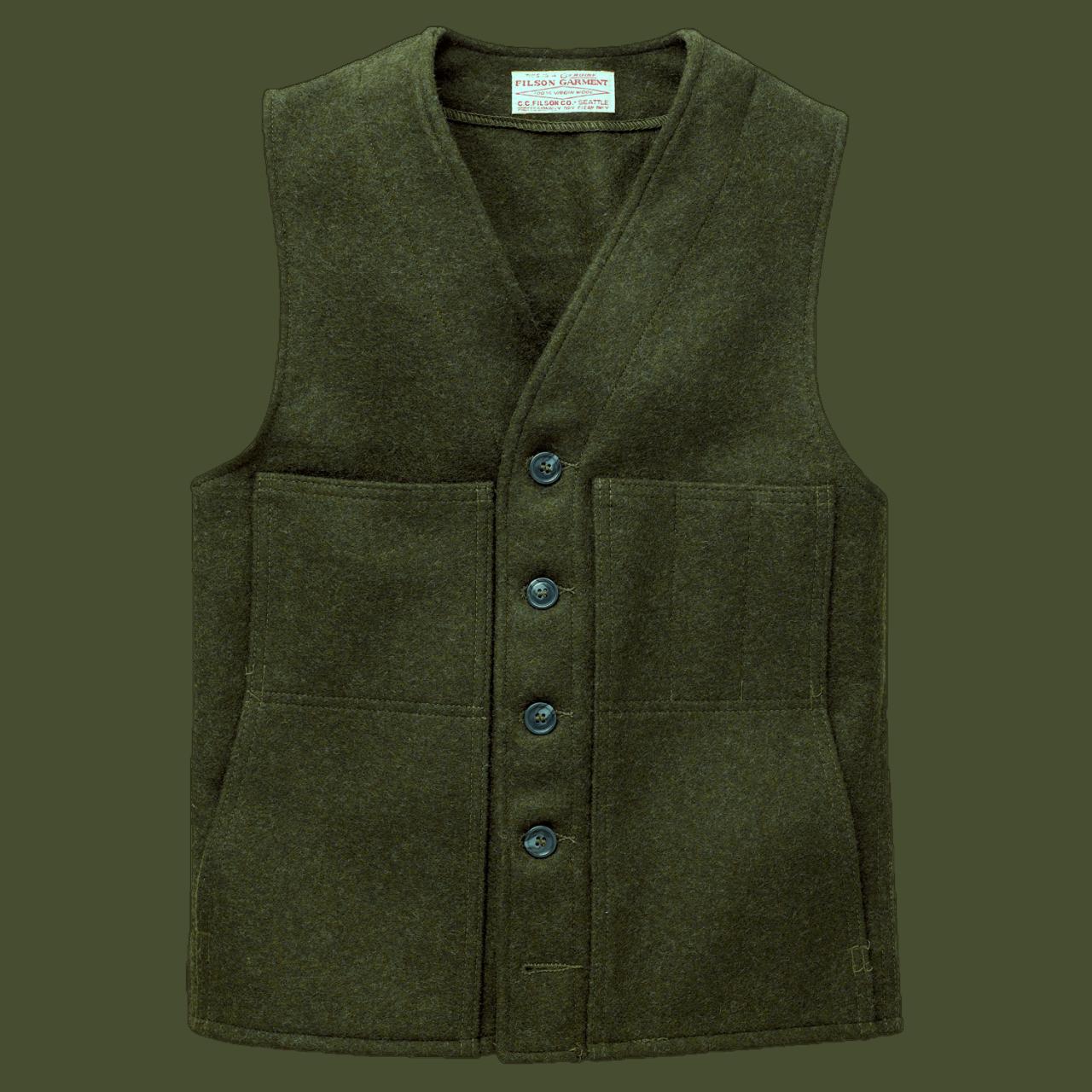 Filson Mackinaw Wool Weste - Forrest Green