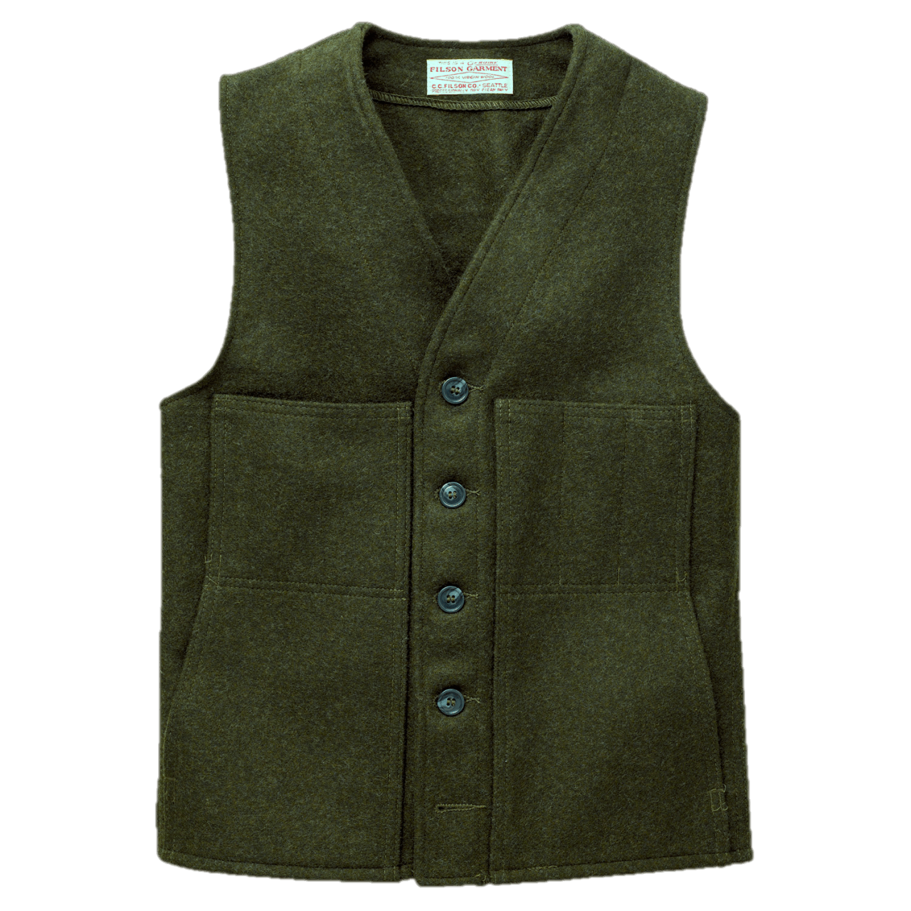 Filson Mackinaw Wool Vest - Forrest Green