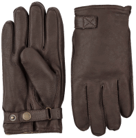 Hestra Deerskin Wool Terry - dark brown