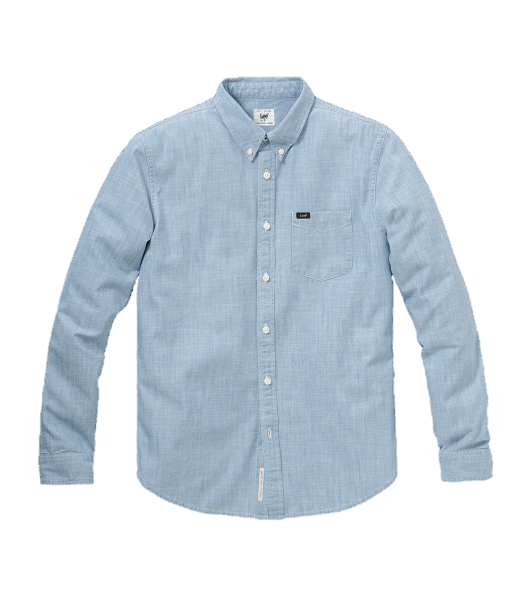 LEE Chambray Button Down Blue Book