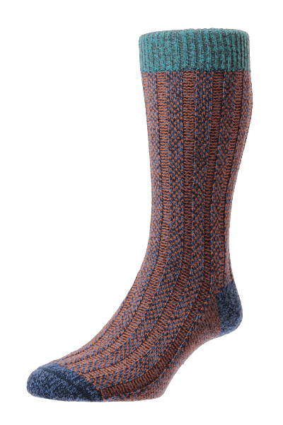 Scott Nichol Bodiam Socken - denim