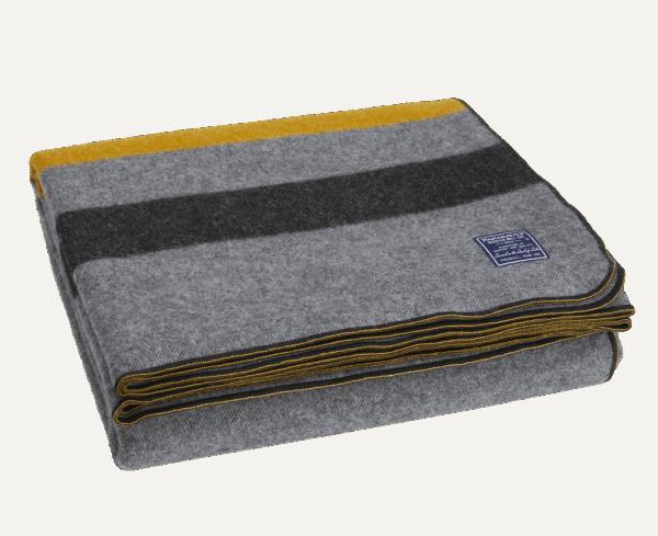 Faribault Foot Soldier Blanket Cadet Gray 64x90 inch / 160x230cm
