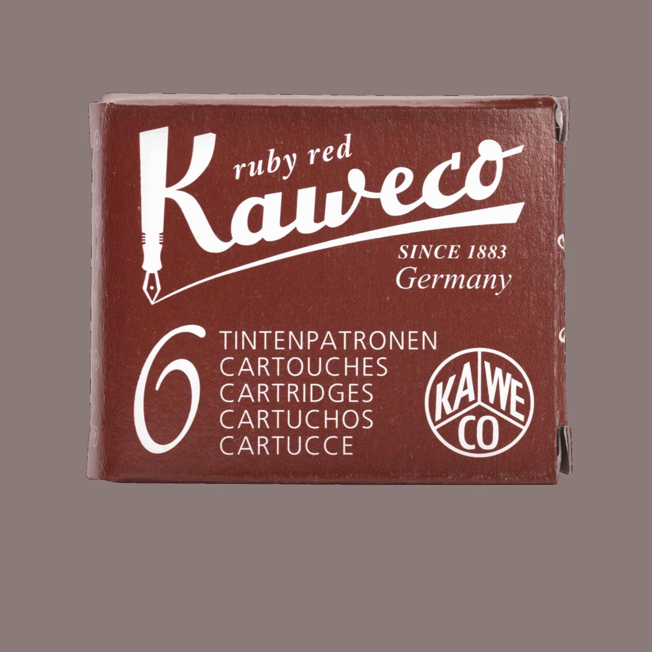 Kaweco Tintenpatronen 6 Stück - Rubinrot