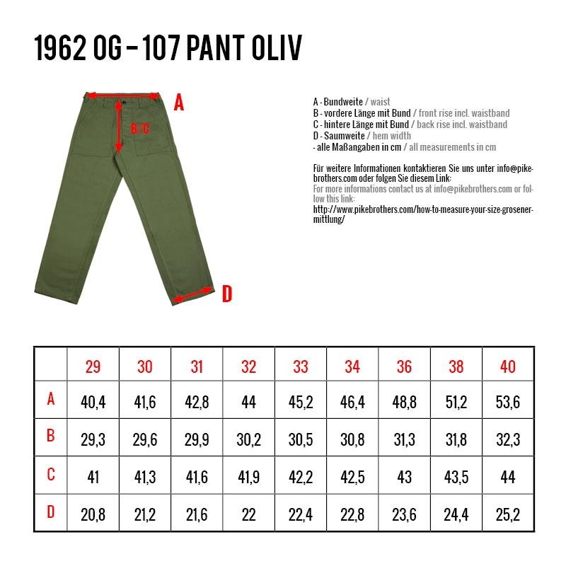 Pike Brothers 1962er OG Pant - oliv