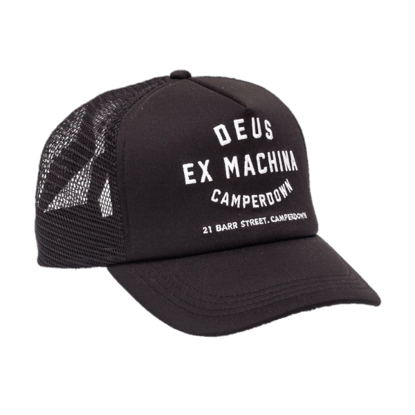 Deus Camperdown Trucker Cap Black