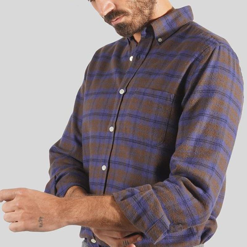 Portuguese Flannel Visi Shirt - Brown