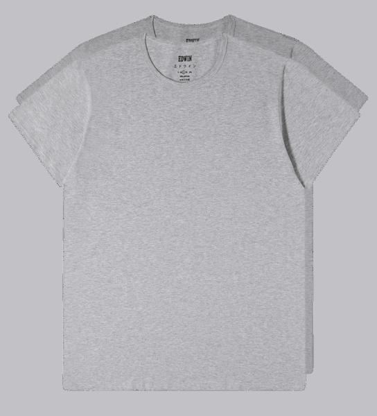 Edwin Double Pack T-Shirt grey