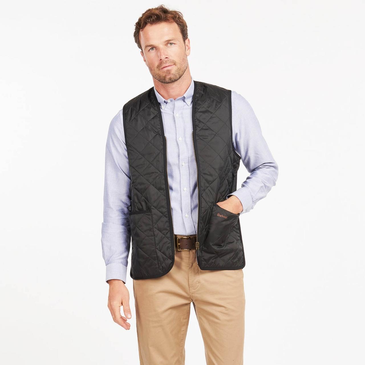 Barbour Quilted Waistcoat / Zip-in Liner - black