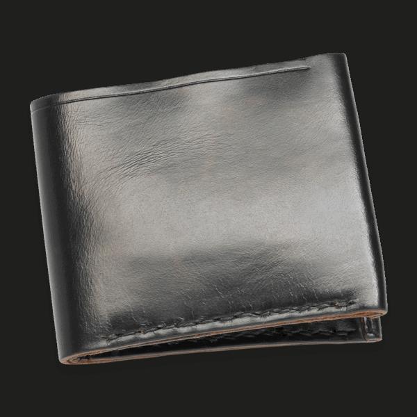 Coronado Leather HH8 BLK 8 Card Wallet Black