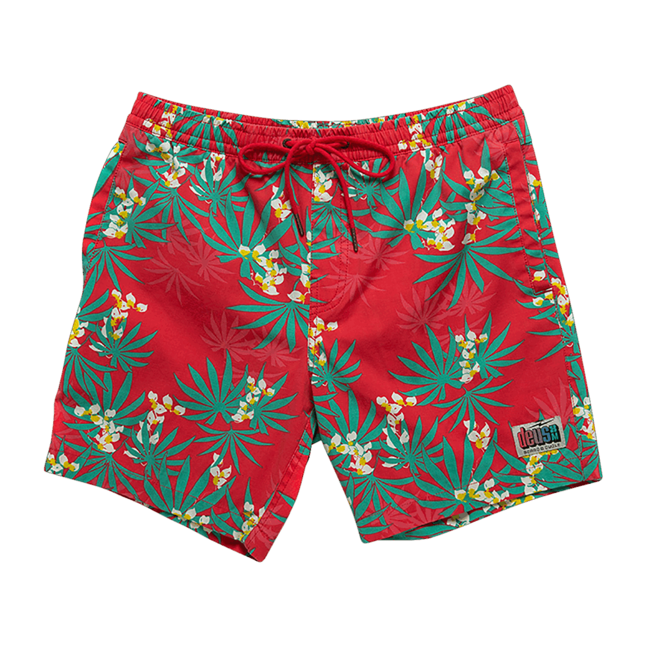 Deus Sandbar Monkey Puzzle Shorts - Poppy Red