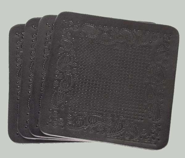 Wood & Faulk Coaster Set - Bandana black