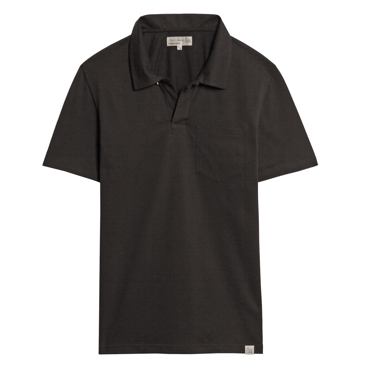 Merz b. Schwanen Pocket Polo Shirt - Deep Black