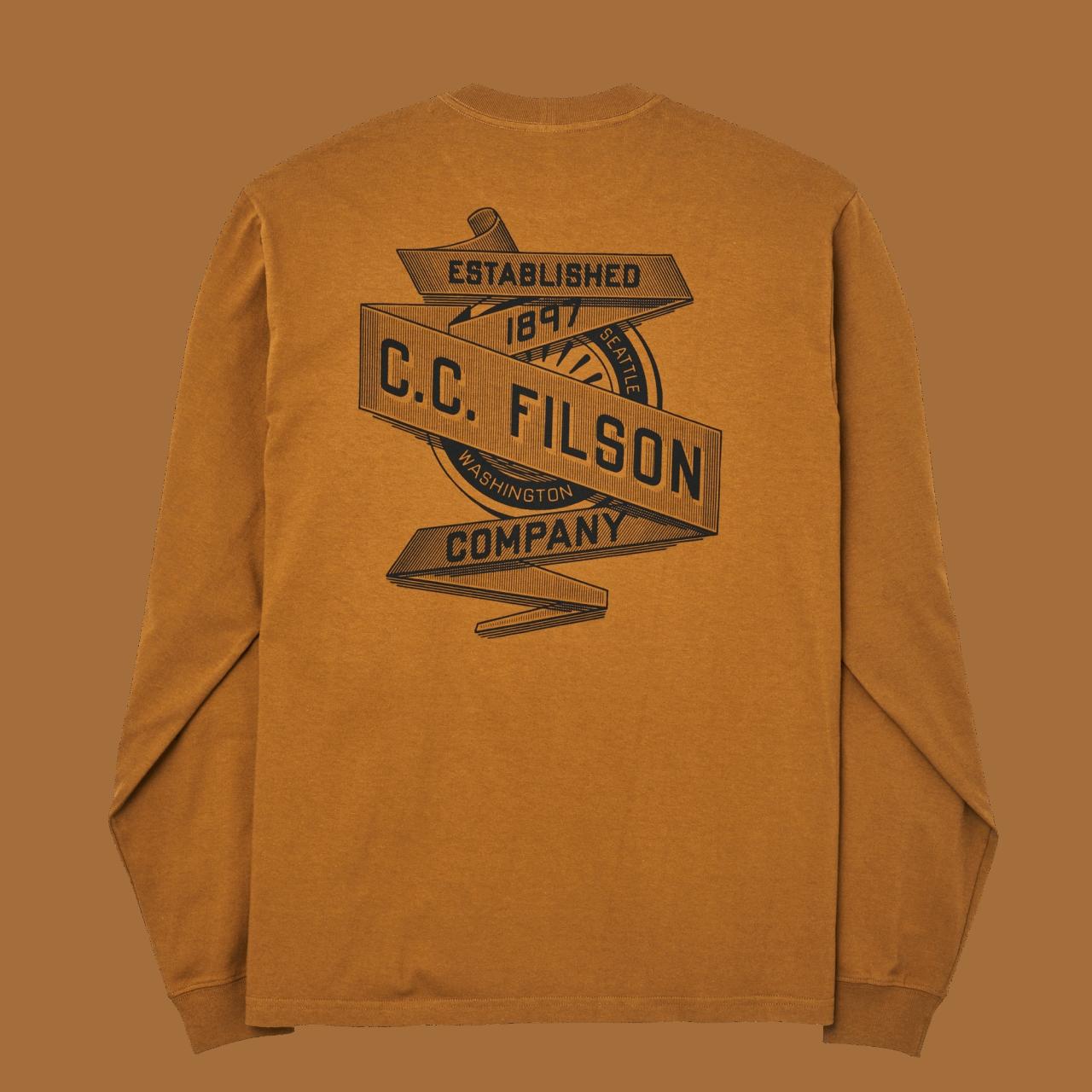 Filson Pioneer Graphic Longsleeve - whiskey