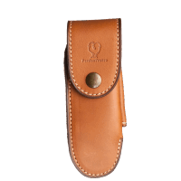 "Passion France ""Knife case 14cm Calfskin - tan"