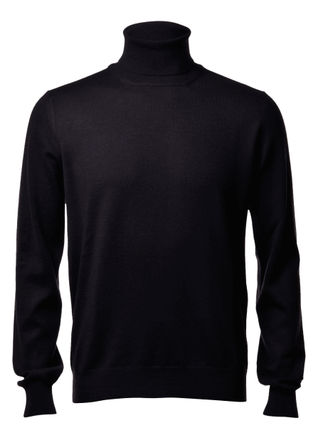 Gran Sasso turtle-neck, black