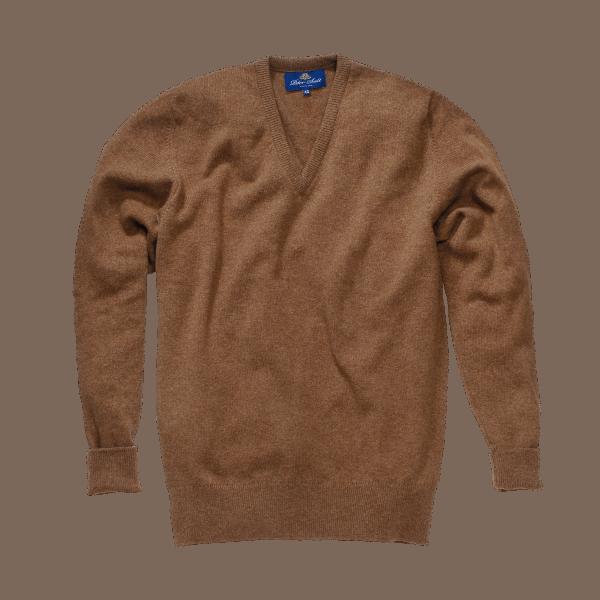 Peter Scott BRAEMAR V- Neck Pullover Camel