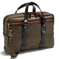 Croots Vintage Waxed Laptop Bag - olive