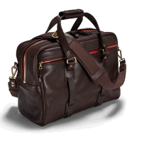 Croots Vintage Leather Traveller Bag - dark brown