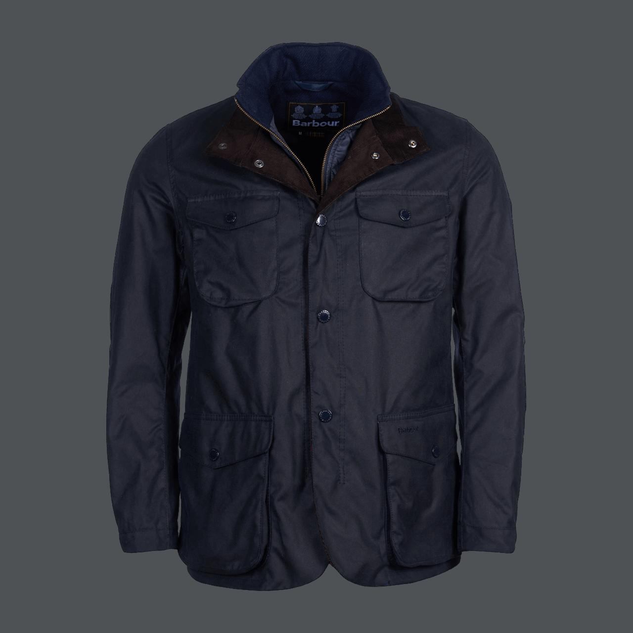 Barbour Ogston Wax Jacket - navy