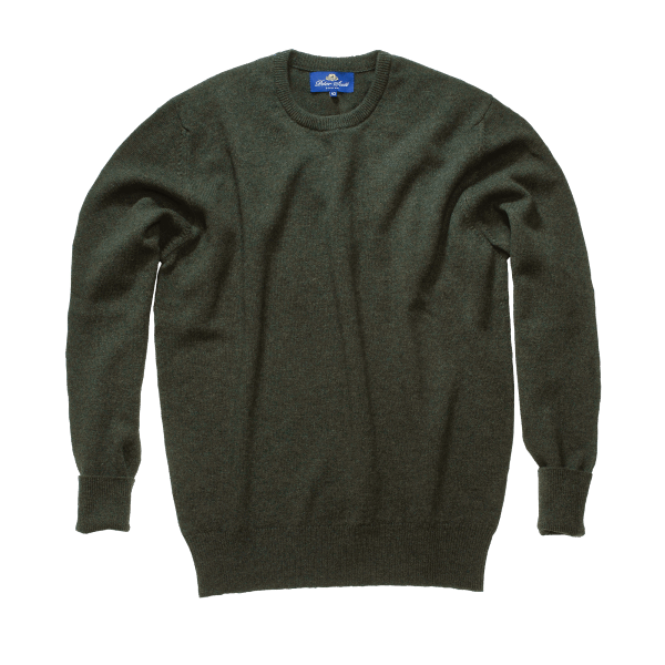 Peter Scott BRAEMAR Crew Neck Pullover Hunting Olive
