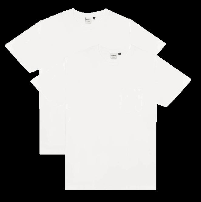 Deus 2-Pack Pocket Tee - White