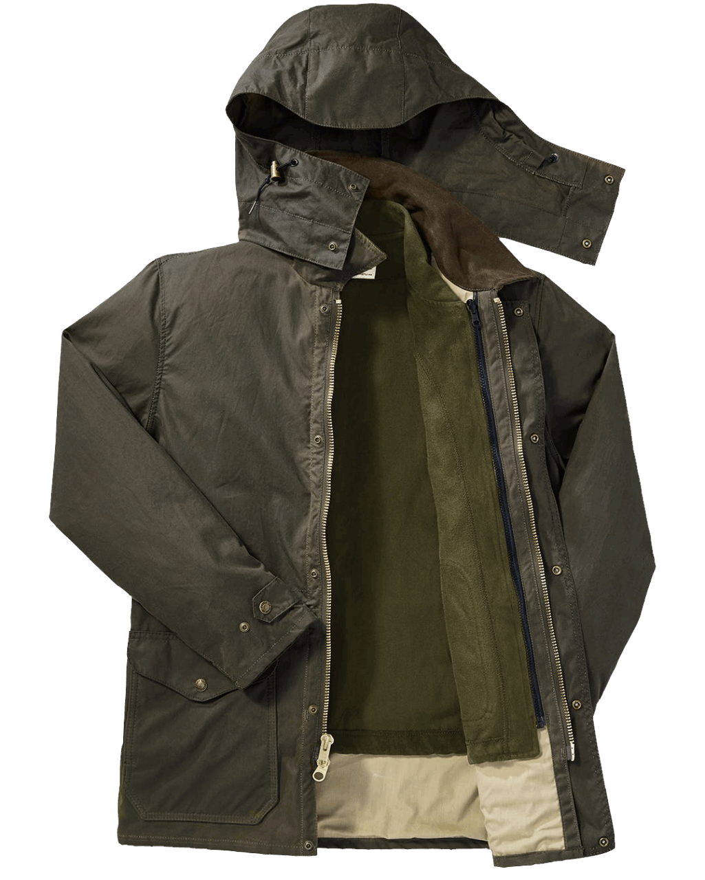 Filson Cover Cloth Mile Marker Coat - Otter Green