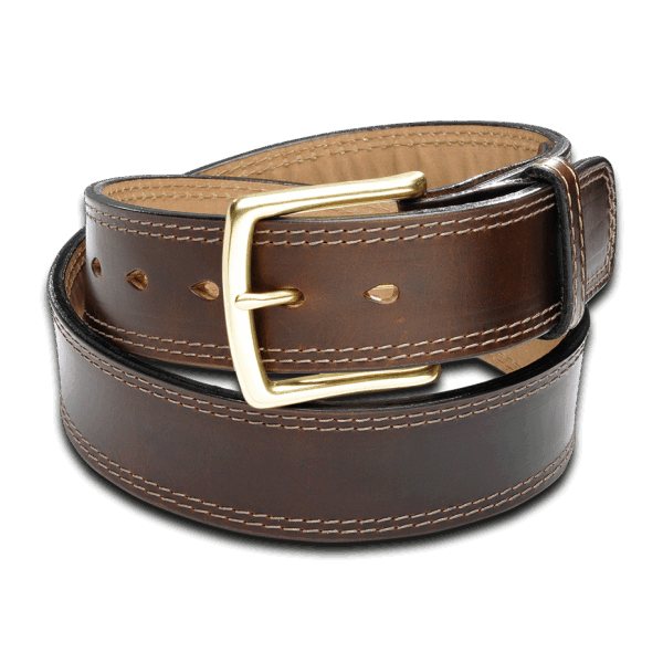 Coronado Leather Horsehide Belt HB7 BRN