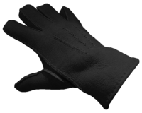 MERINO SHEEPSKIN GLOVES BLACK