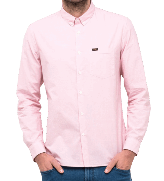 LEE Slim Button Down- faded pink