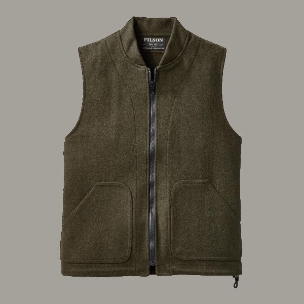Filson Wool Vest Liner - Forrest Green