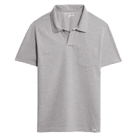 Merz b. Schwanen Pocket Polo Shirt - Grey Mel