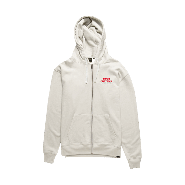 Deus Automatica Zip Hoodie - Vintage White