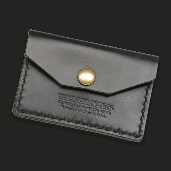 Coronado Leather HH5 BLK Card Case Wallet Black
