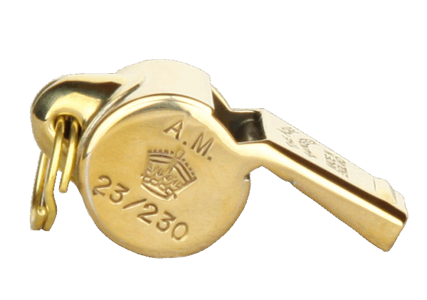 RAF - USAAF ESCAPE WHISTLE - brass