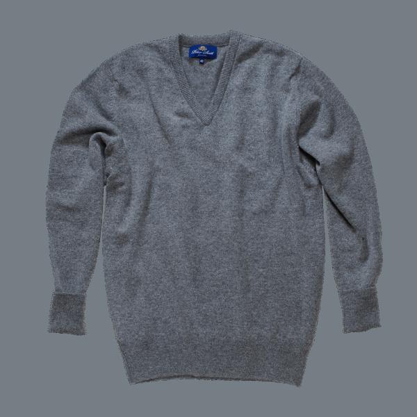 Peter Scott BRAEMAR V-Neck Pullover Mid Grey