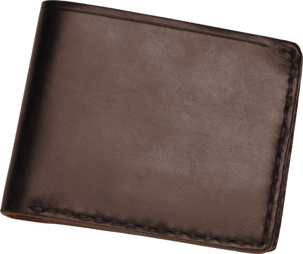 Coronado Leather Horsehide Coin Wallet Brown