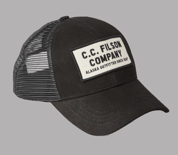 Filson Mesh Snap Logger Cap - Black