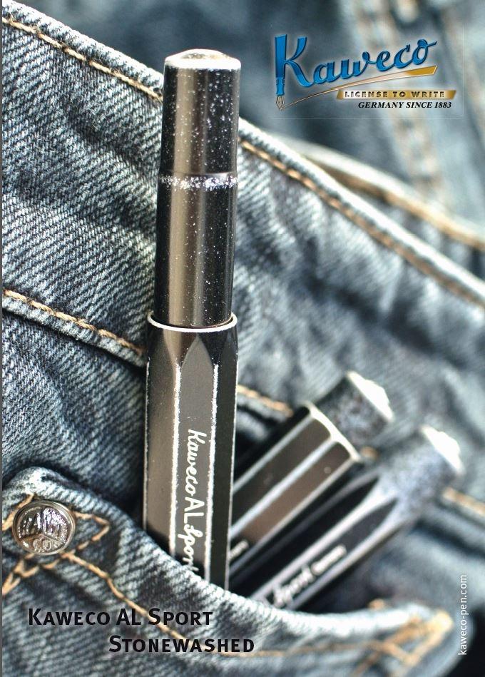 Kaweco ALU Stonewashed Kugelschreiber Black
